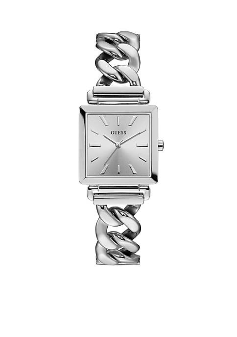 Womens Stainless Steel Vanity Chain Watch