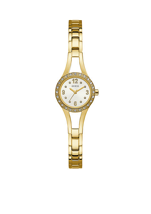 Gold-Tone and Crystal Bracelet Watch