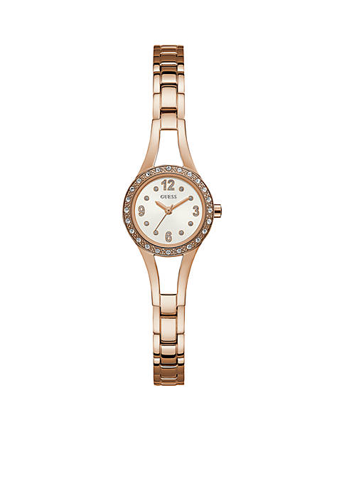 Rose Gold-Tone And Crystal Watch