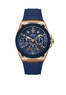 Blue And Rose Gold-Tone Multifunction Watch