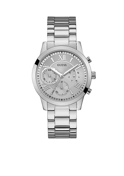 GUESS® Stainless Steel Multi-function Sport Watch