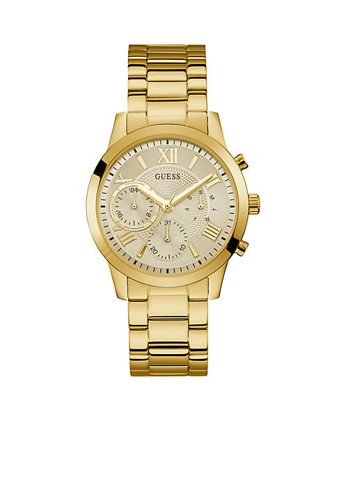GUESS® Gold-Tone Multi-function Sport Watch