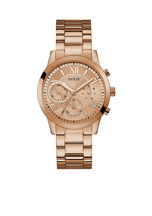 Rose Gold-Tone Multi-function Sport Watch