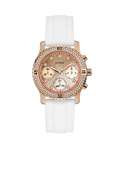 Rose Gold-Tone White Confetti Watch