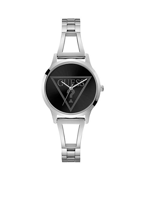 Iconic Silver-Tone Bangle Watch