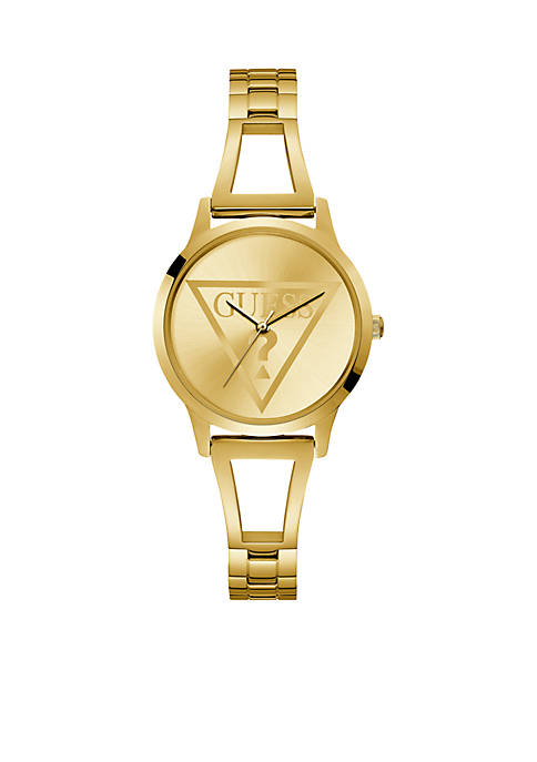 GUESS® Iconic Gold-Tone Bangle Watch