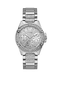 Silver-Tone And Crystal Statement Watch