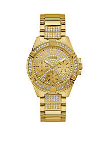 Gold-Tone And Crystal Statement Watch