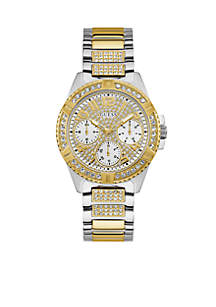 Gold-Tone And Steel Statement Watch