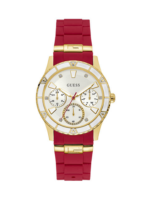 Womens Valencia Red Gold Watch