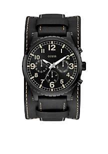 Black Ionic Plated Cuff Watch