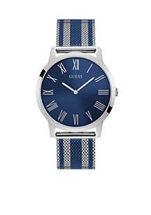 Richmond Two-Tone Silver Stripe Blue Dial Watch