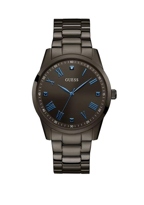Mens Gunmetal IP Diamond Dial Watch