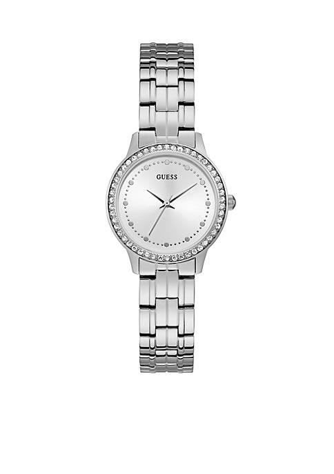 Chelsea Silver Bracelet Crystal White Dial Watch
