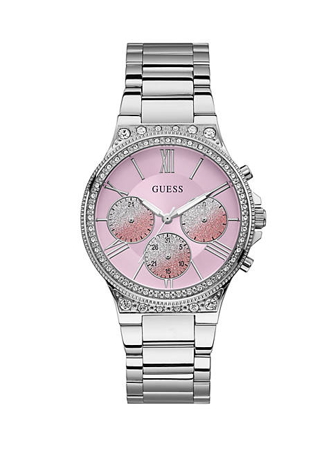 GUESS® Stainless Steel Pop Sugar Multi-Function Bracelet Watch