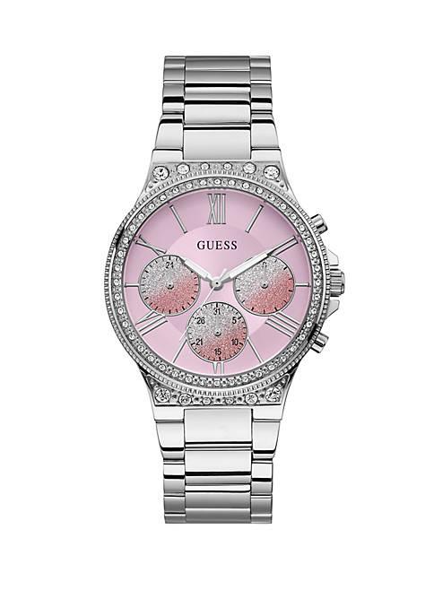 GUESS® Stainless Steel Pop Sugar Multi-Function Bracelet Watch