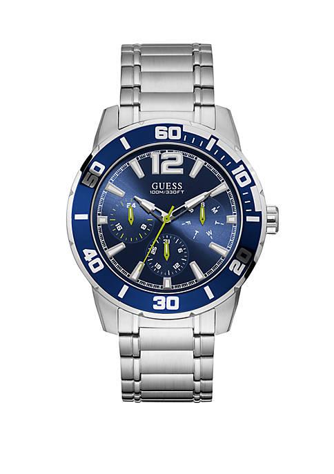 Multifunction Steel Trek blu Watch