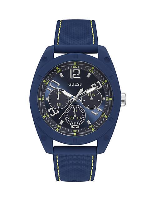 Multifunction Steel Dash blu Watch