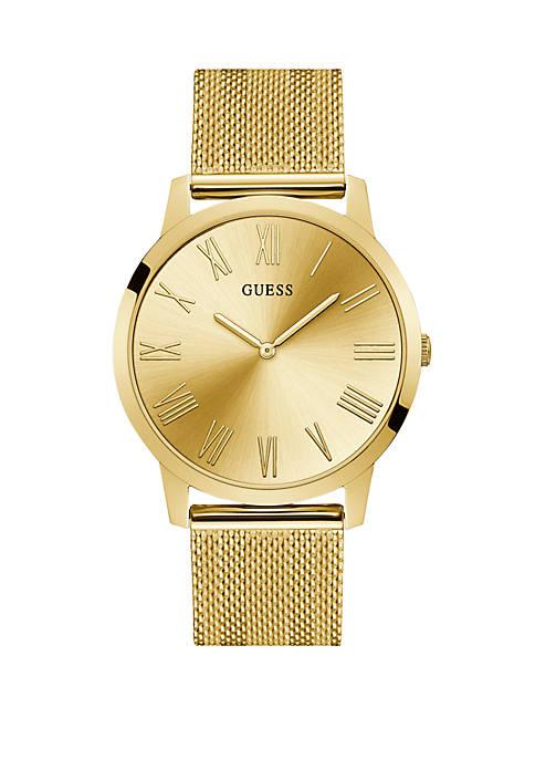 Gold Tone Vintage Mesh Bracelet Watch