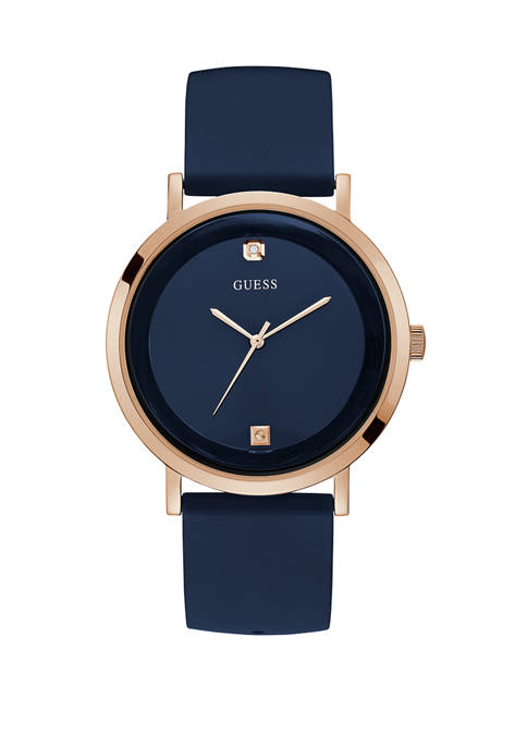GUESS® Womens Supernova Blue Dial Watch