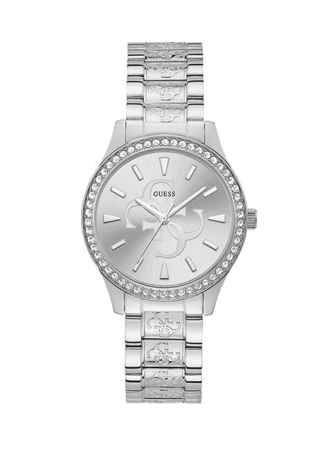 GUESS® Womens Anna Silver Logo Watch