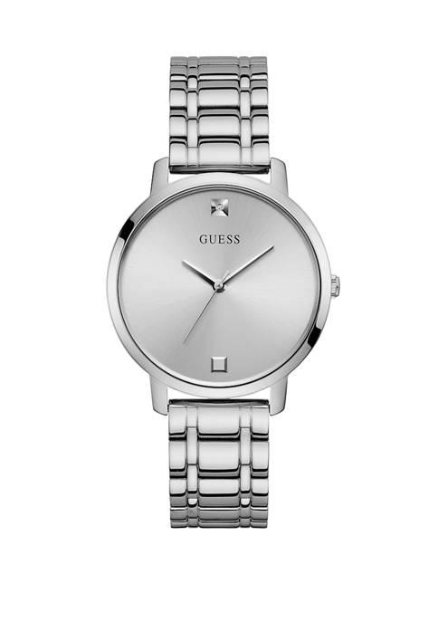 GUESS® Womens Nova Silver Dial Watch