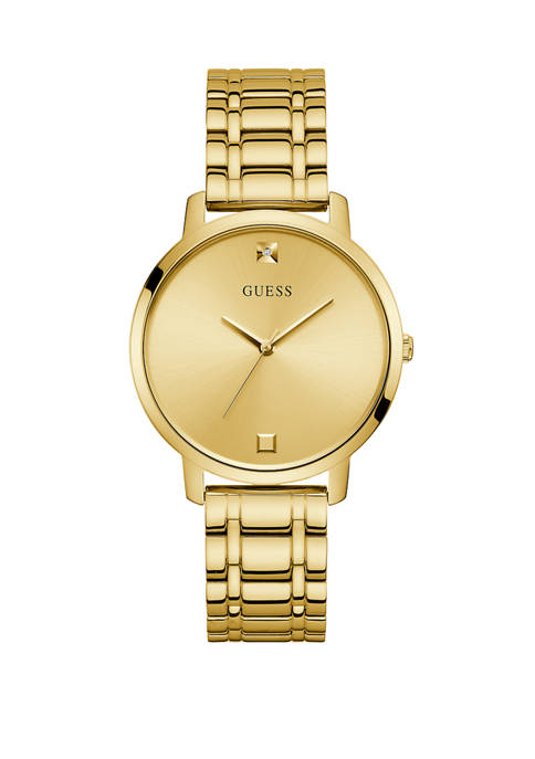 GUESS® Womens Nova Gold Dial Watch