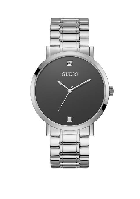 GUESS® Womens Supernova Silver Dial Watch