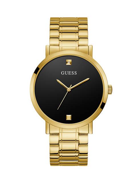 GUESS® Womens Supernova Gold Dial Watch