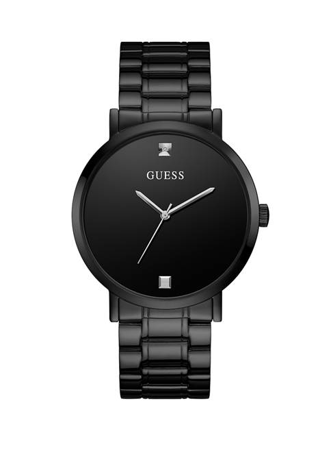 GUESS® Mens Supernova Black Ion Plated Dial Watch