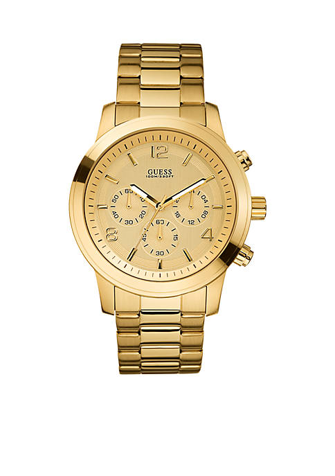 GUESS® Mens Goldtone Chronograph Watch