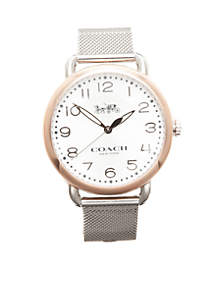 Women's Rose Gold-Tone Delancey Stainless Mesh Bracelet Watch