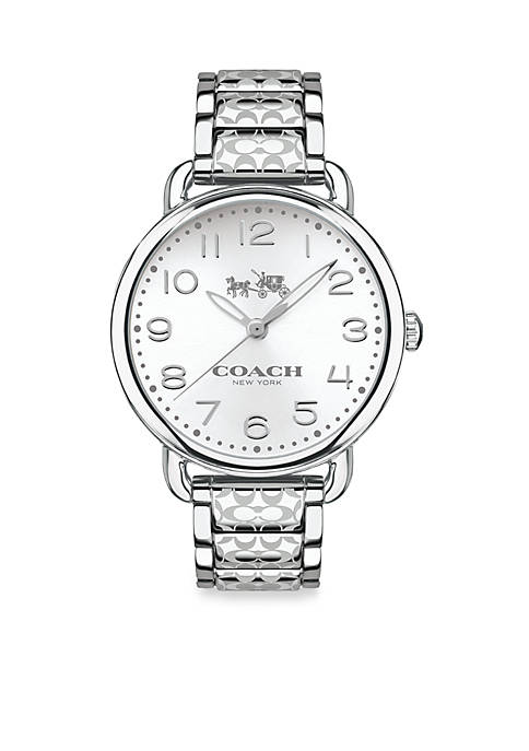 COACH Womens Delancey Stainless Steel Bracelet Watch