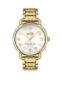 Women's Delancey Gold-Plated Bracelet Watch