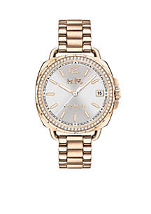 Women's Tatum Carnation Gold-Tone Sunray Watch