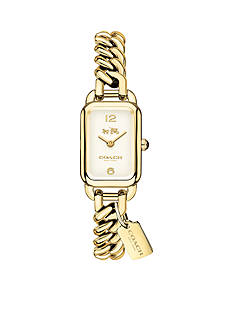 COACH Feminine Braided Glam Ludlow Gold-Toned Watch