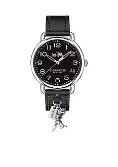 COACH Delancey Leather Strap with Rexy Charm Watch