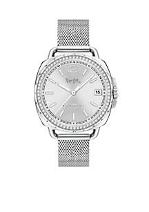Stainless Steel Tatum 34-mm. Mesh Watch