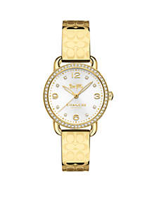 Feminine And Classic Gold-Plated Bangle Watch