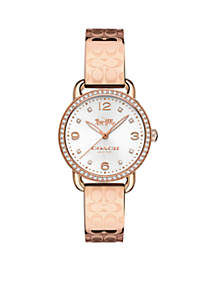 Delancey Rose-Gold Tone Signature Bangle Watch