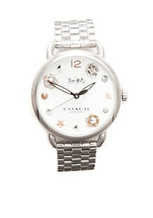 Women's Stainless Steel Delancey Watch with Charm Dial