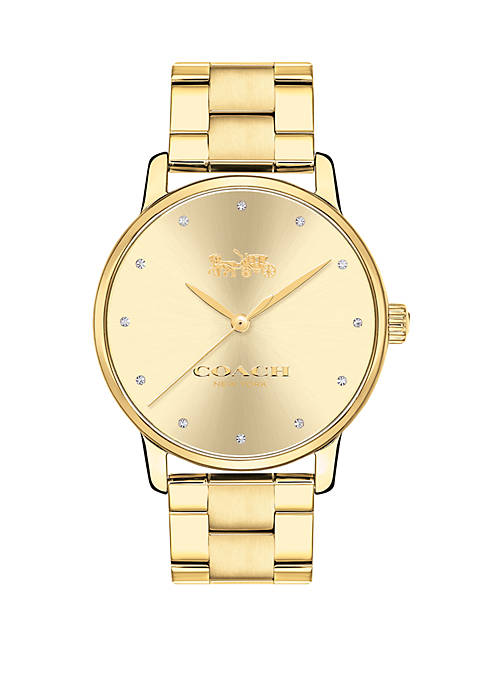 Womens Gold-Tone Grand Watch