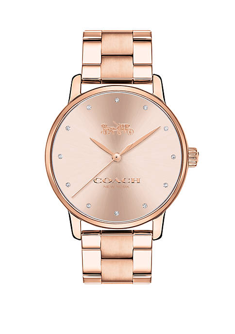 Womens Rose Gold-Tone Grand Watch