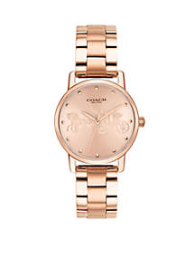 Rose Gold-Tone Case Bracelet With Rose Gold Dial Accents Watch