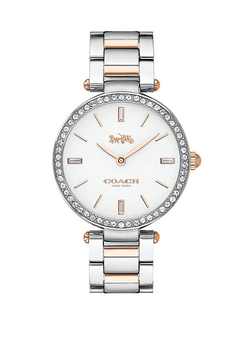 COACH 2-Tone Stainless Steel Bracelet Watch