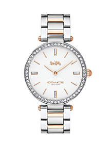 2-Tone Stainless Steel Bracelet Watch
