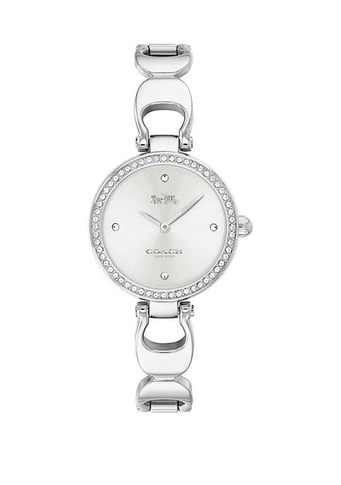 COACH Stainless Steel Park Signature C Bangle Watch