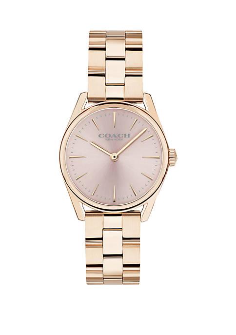 Gold-Tone Stainless Steel Modern Luxury Bracelet Watch