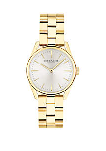 Gold-Tone Stainless Steel Modern Luxury Bracelet Watch