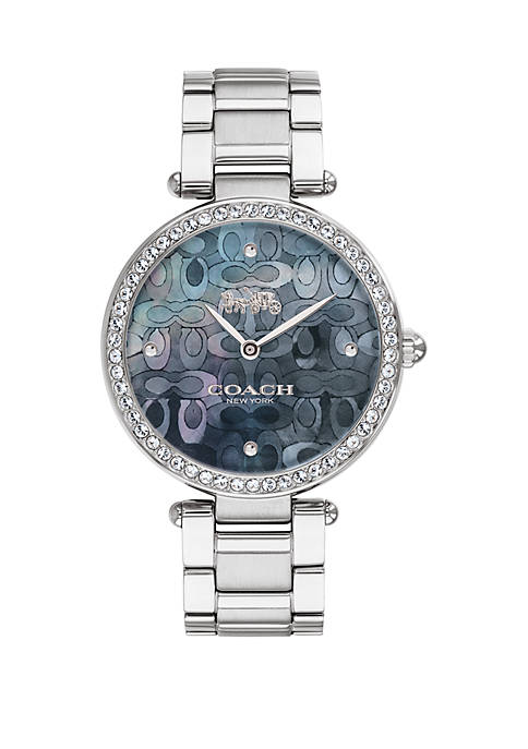 COACH Stainless Steel Moasic Mother Of Pearl Dial
